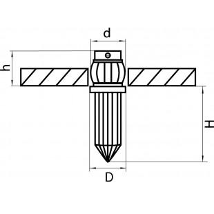 079014 Светильник NUBELLA LED 0,7WХ1 40LM ХРОМ 4000K (в комплекте)