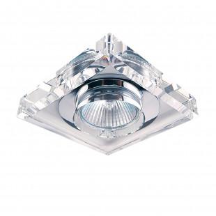 002050 (052920) Светильник SOLO QUAD MR16 ХРОМ/ПРОЗРАЧНЫЙ (в комплекте)