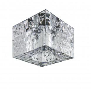004160*** Светильник BOLLA QUBE CR G5.3 ХРОМ/ПРОЗРАЧНЫЙ (в комплекте)