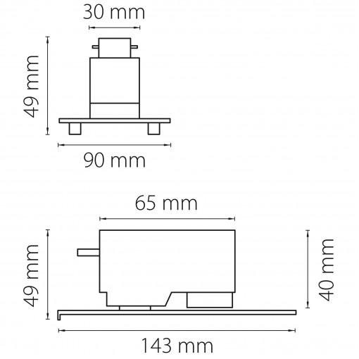 592039 Трековое крепление ASTA с 1-фазным адаптером к 05121x/05131x СЕРЫЙ