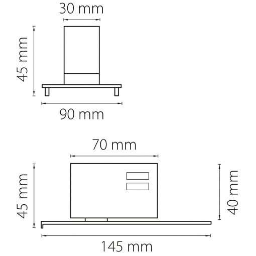 594037 Трековое крепление ASTA с 3-фазным адаптером к 05121x/05131x ЧЕРНЫЙ