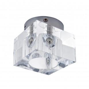 160204-G9 Светильник CUBO CR ХРОМ/ПРОЗРАЧНЫЙ (в комплекте)