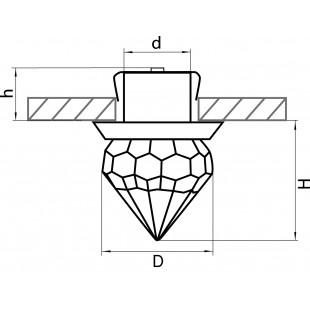 070164 Светильник ASTRA TUBO LED 1W 90LM ХРОМ/ПРОЗРАЧНЫЙ 4000K (в комплекте)