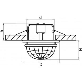 030004*** Светильник DIVA CR MR16 ХРОМ/ПРОЗРАЧНЫЙ (в комплекте)