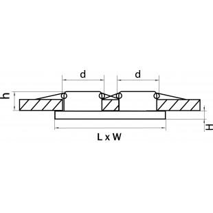 002544 Светильник RIFLE MR16/HP16 ХРОМ/ЗЕРКАЛЬНЫЙ (в комплекте)