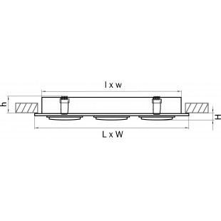 011613 Светильник SINGO X3 MR16/HP16 БЕЛЫЙ (в комплекте)