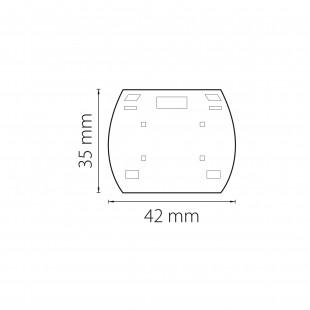 504169 Заглушка концевая трековая трехфазная BARRA СЕРЫЙ