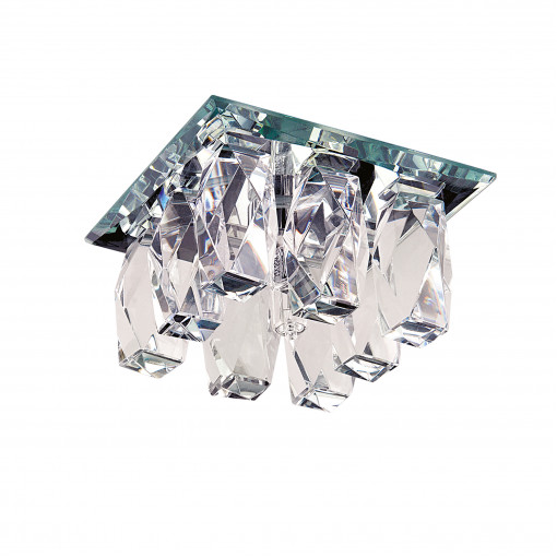 004560-G5.3*** Светильник PILONE QUA CR G5.3 ХРОМ/ПРОЗРАЧНЫЙ (в комплекте)