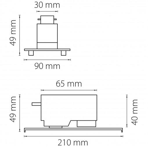592046 Трековое крепление ASTA с 1-фазным адаптером к 05122x/05132x БЕЛЫЙ