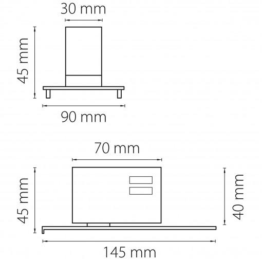 594039 Трековое крепление ASTA с 3-фазным адаптером к 05121x/05131x СЕРЫЙ