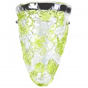 604624*** (7019/A/G) MURANO Бра 2х40W E14 Green (в комплекте)
