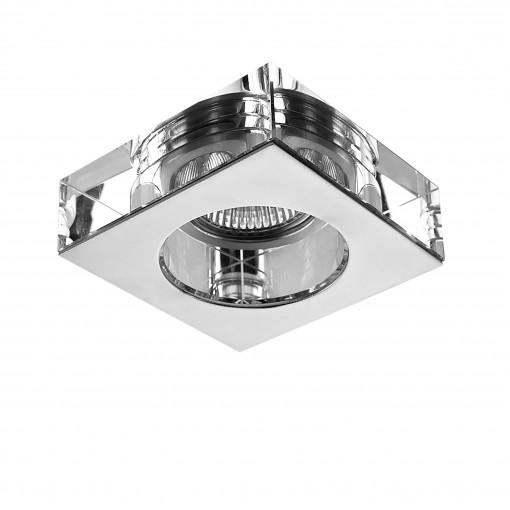 006124 Светильник LUI MR16/HP16 ХРОМ/ПРОЗРАЧНЫЙ (в комплекте)