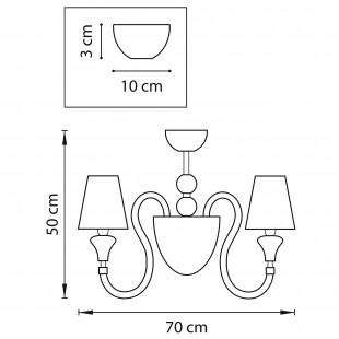 809057*** (MС2070-5BL) Люстра OTTO 5х25W E14+1х40W G9 ЧЕРНЫЙ ткань (в комплекте)