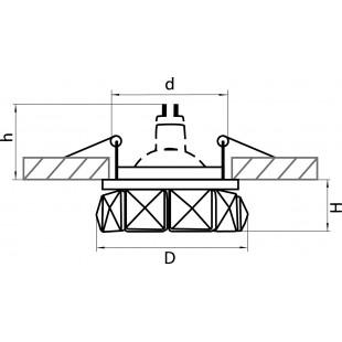 032702 Светильник ONDA MR16/HP16 ЗОЛОТО/ХРУСТАЛЬ ПРОЗРАЧНЫЙ (в комплекте)