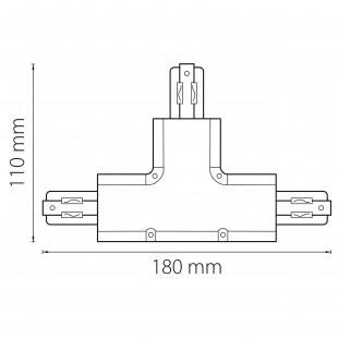 504139 Соединитель трековый трехфазный BARRA T-образный СЕРЫЙ