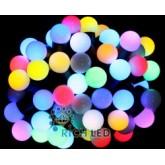 Светодиодная гирлянда ШАРИКИ RGB, Светодиодная гирлянда 10 м, 100 LED, 1.7 см