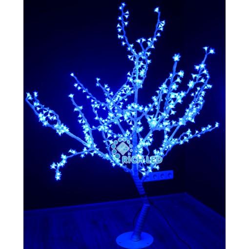 Светодиодное дерево Сакура 150, 24В, СИНЕЕ/белый ствол