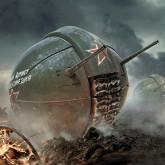 фотообои тематические  World of Tanks-сферический танк