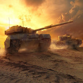 фотообои тематические - World of Tanks - закат