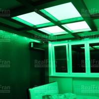 натяжной потолок RGB фонарь