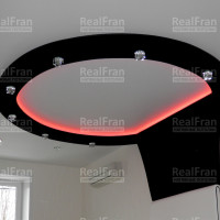 Матовый натяжной потолок с RGB подсветкой