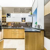 Натяжной светодиодный потолок фонарь на кухню