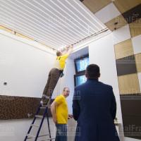 натяжной потолок фонарь фото