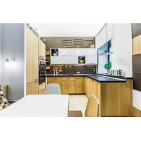 Натяжной потолок фонарь для проекта Школа Ремонта - Кухня с ароматом кофе