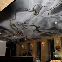 натяжной потолок с фото печатью