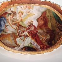 натяжной потолок с фото печатью фреска