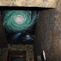 натяжной потолок с фото печатью космос