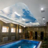 натяжной потолок с фото печатью облака