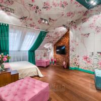 дизайнерский сатиновый натяжной потолок
