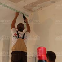 установка каркаса для тканевого потолока