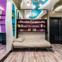 парящий многоуровневый потолок со светодиодным освещением