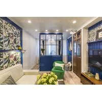спальная комната с матовым натяжным потолком