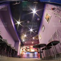 Натяжной потолок фотопечать Звёздное небо с точечными светильниками