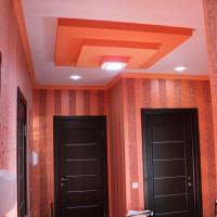 многоуровневый индивидуальный 3D натяжной апельсиновый потолок